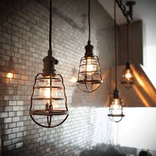 interior industrial lighting fixtures. Light Aged Bronze Cage - Pendant Lighting, Vintage Lamp The Home Decorators 72 In. Is Durably Built From Metal And Features Interior Industrial Lighting Fixtures T