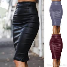 2019 hot ing women bandage pu leather pencil skirts zipper style high waist black skirts plus size women clothing from huangchao 2018 16 28 dhgate
