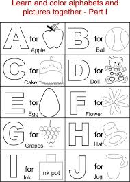Free Alphabet Worksheets Learning Preschool Abc Coloring Pages