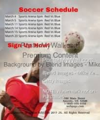 Sports Schedule Maker Soccer Schedule Template Postermywall