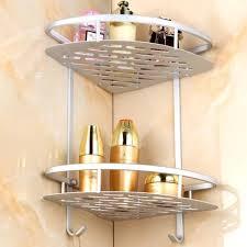 bathroom corner double layer triangle rack holder shelf storage organizer