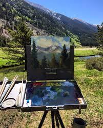 plein air oil painting copper mountain co