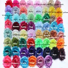 Wholesale Dhl 75 Yards 2 5 Shabby Flower Chiffon Shabby Flowers Headband For Selection Toddlers Hair Accessories Hair Accessories For Infants From