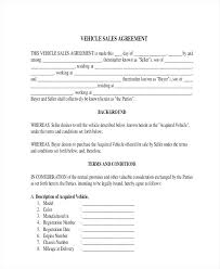 Used Car Sale Agreement Template Selling Contract Template Allthingsproperty Info