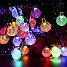 Solar Powered Globe Lights Hot Item Solar String Lights Outdoor Led Crystal Balls Waterproof Globe Solar Powered Led Christmas Lights