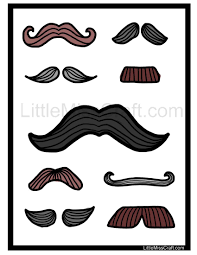 Small Picture Fun mustache coloring page Print at httplittlemisscraftcom