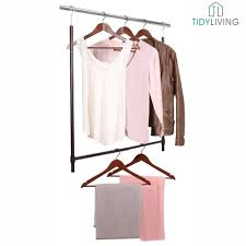 double the capacity of your closet by installing an expandable lower closet rod from tidy living the secondary rod is easy to install and creates a lower