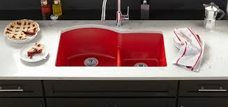 red kitchen sinks new quartz luxe