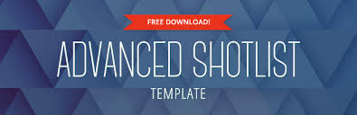 Advanced Shot List Template – Free Download