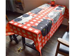 Rouge Yter Housse De Table Décorative Nappe De Motif De Chats De