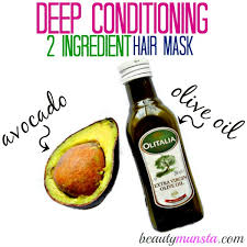 with avocado olive oil you can whip up a luxurious deep conditioning hair treatment