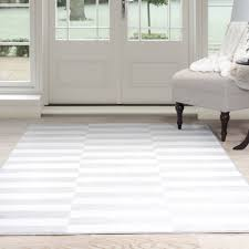 Somerset Home Alternate Stripes Area Rug, Grey and White