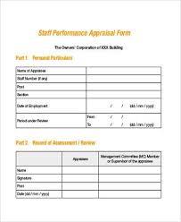 Simple Appraisal Form Simple Appraisal Form Howtheygotthereus 1