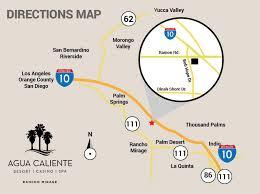 Directions Agua Caliente Resort Casino Spa Rancho Mirage