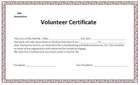 volunteer template best volunteer certificate templates download certificate template