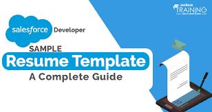Salesforce Developer Resume Template Sample A Complete Guide Enchanting Salesforce Resume