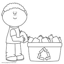 Small Picture Recycling coloring pages printable