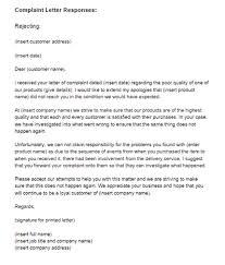 Complaints Letter Format Response To Complaint Letter Mobile Discoveries