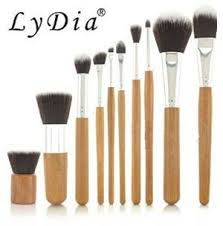 6 lydia professional natural bamboo makeup brush set