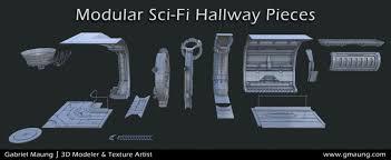 Sci fi ceiling texture Room Scifihallwayenvironmentue4modularpieces Gabriel Maung Scifi Hallway Gmaung