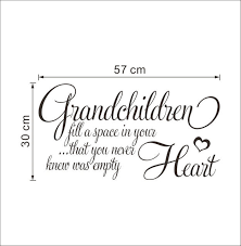 Quotes About Grandchildren Adorable Online Shop NEW Grandchildren Fill Empty Heart English Quotes Wall