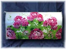 painted mailbox designs. Simple Painted Hand Painted Mailbox Our Flower Mailboxes Are Personalized  With Your Street Address   For Painted Mailbox Designs