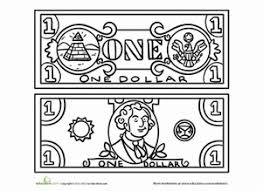 Money Coloring Pages For Kindergarten Free Coloring Library