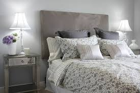 There Is A Lot Of Grey In This Room As You Can See. The Headboard Is Made  With A Beautiful Grey Upholstery That Resembles Velvet. The Walls Are A  Light Grey ...