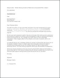 A Verbal Warning Letter Template Or Employee Written And Te