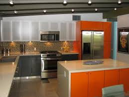 kitchen mid century modern kitchen cabinets white black table square island light blue base cabinetry