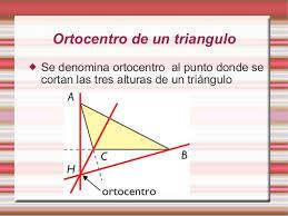 Resultado de imagen de ortocentro de un triangulo