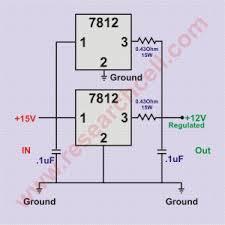 7812 pin and circuit diagram 7812 in parallel circuit diagram