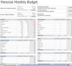 Monthly Personal Budget Spreadsheet Monthly Budget Worksheet Monthly Budget Worksheet Excel