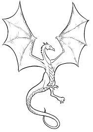 Dragon Coloring Page Cartoon Dragon Coloring Pages Printable