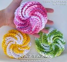 Free Crochet Patterns For Scrubbies Magnificent Spiral Scrubbie Free Pattern Crochet Patterns Only Spiral