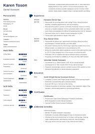 Dental Assistant Resume Templates Dental Assistant Resume Sample Complete Guide 20 Examples