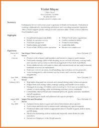 Waitress Resume Template Verbeco Interesting Waiter Resume