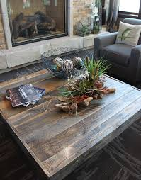 reclaimed wood square coffee table industrial denver by jw