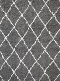 moroccan tribal diamond pattern grey cream rug
