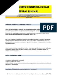 Maybe you would like to learn more about one of these? Festas Juninas Religiao E Crenca Biblia