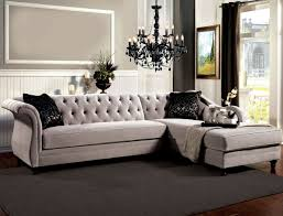 gray velvet sectional. Unique Sectional Furniture Of America SM2261 Velvet Fabric Sectional  ROTTERDAM Warm Gray  Chaise Intended A
