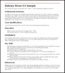Delivery Driver Resume Professional Free Sample Resume For Delivery Driver Seasoned 69