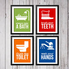 Kids bathroom sign Beautiful Kids Bathroom Art Prints Bathroom Rules Art Prints Bathroom Ru Wanelo Best Bathroom Sign To Flush Products On Wanelo