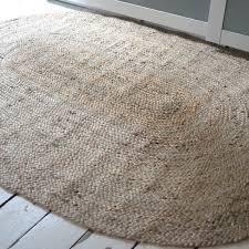 plain braided jute oval rug