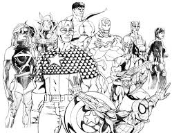 Coloring Pages For Kids Marvel Comics Printable Coloring Page For Kids