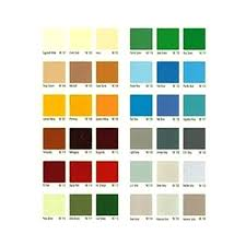 Cosmetic Paint Shade Cards