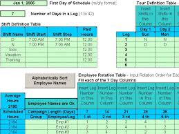 excel rotating schedule rotating shifts software free download