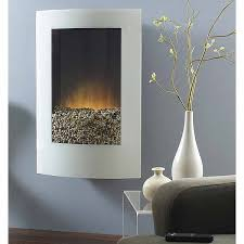 white convex glass vertical wall mount electric fireplace 354492