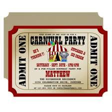 Carnival Birthday Invitations Circus Carnival Birthday Party Invitations
