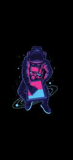 Astronauts Space Dark OLED Screen 4K ...